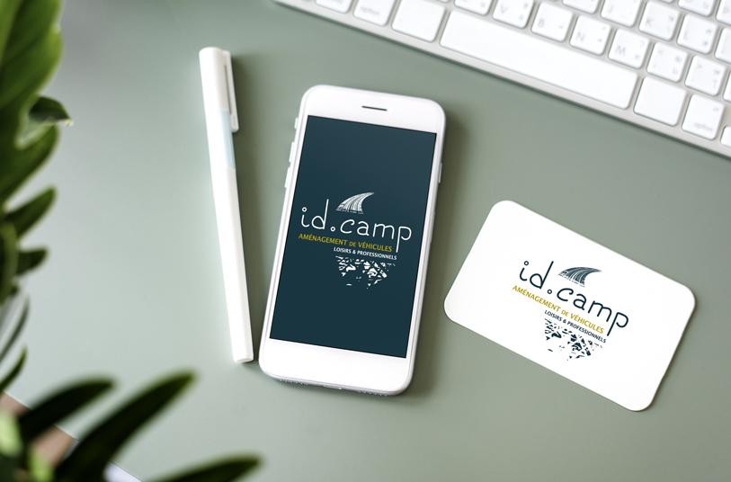 Présentation du logo Id.Camp créé par cerisegriotte